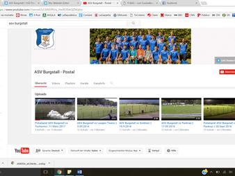 ASV Burgstall eröffnet YouTube-Channel
