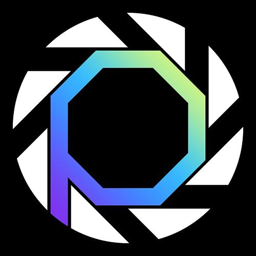 Perspective Logo, Black Background