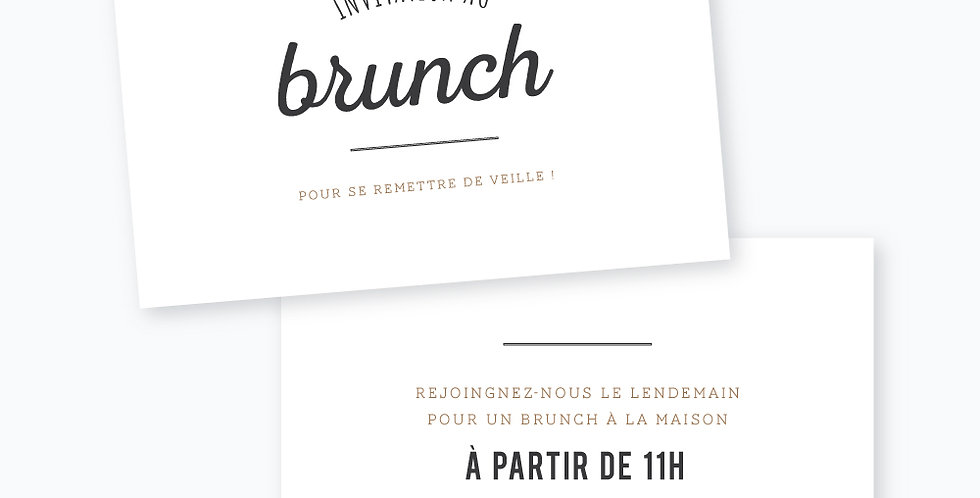 Carton brunch - L'amour brut