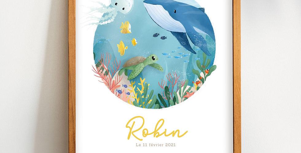 Affiche - Sous l'océan