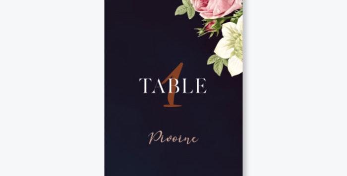 Nom de table - Botanique Chic