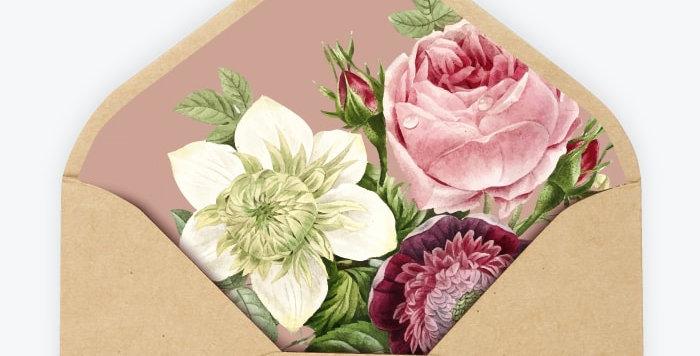 Enveloppe personnalisée - Botanique Chic