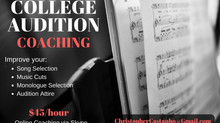 Christopher now offers COLLEGE AUDITION COACHING