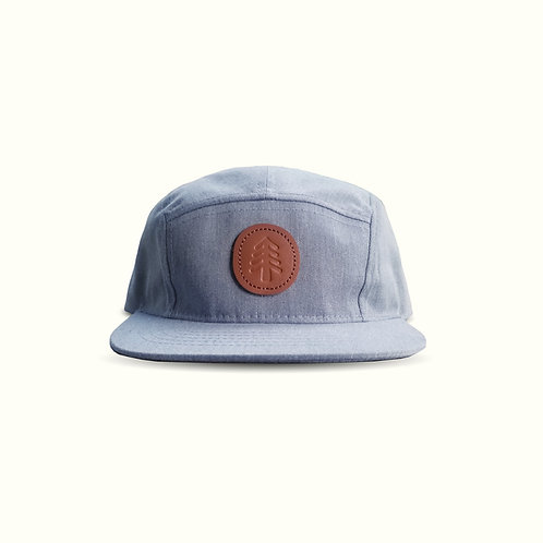 Tree Camper Hat | Kid's Heather Gray unisex Hat with Tree Patch