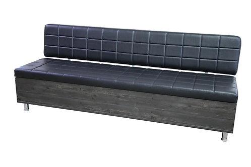 KENSINGTON Waiting Seat - Dark Wood  / Black