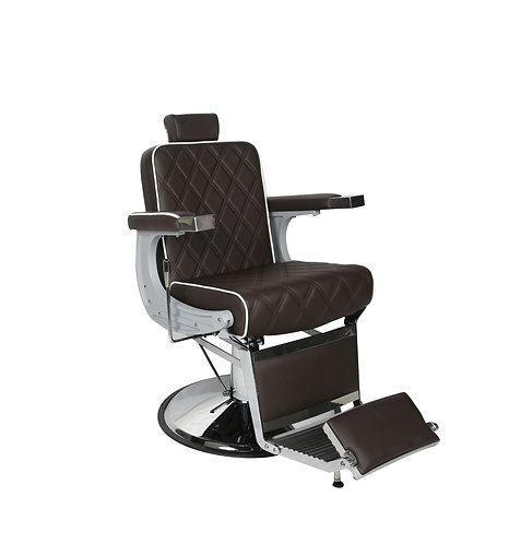 CHRYSLER Barber's Chair - Brown with White Piping