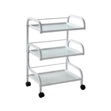 BEAUTY Trolley 3 Tier - Glass Shelves