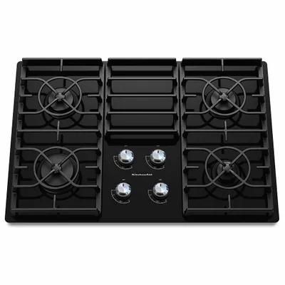 Estufa Gas Vidrio Negro KGCC506RBL KitchenAid