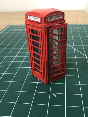 Telephone Box Model Piece