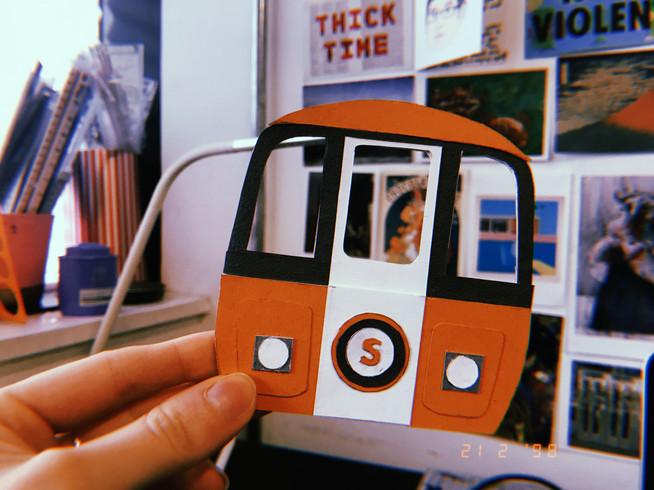 Glasgow Subway Train Model