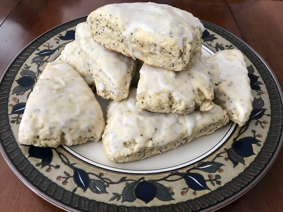 Perfect Lemon Chia Seed Scones