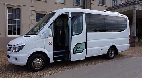 Wedding Cars Torbay White Mercedes 16 Seat Minicoach Wedding Gest Transportin Torbay and South Devon