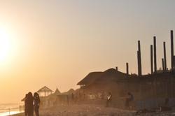 La Beach sunset