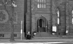 At the church door
