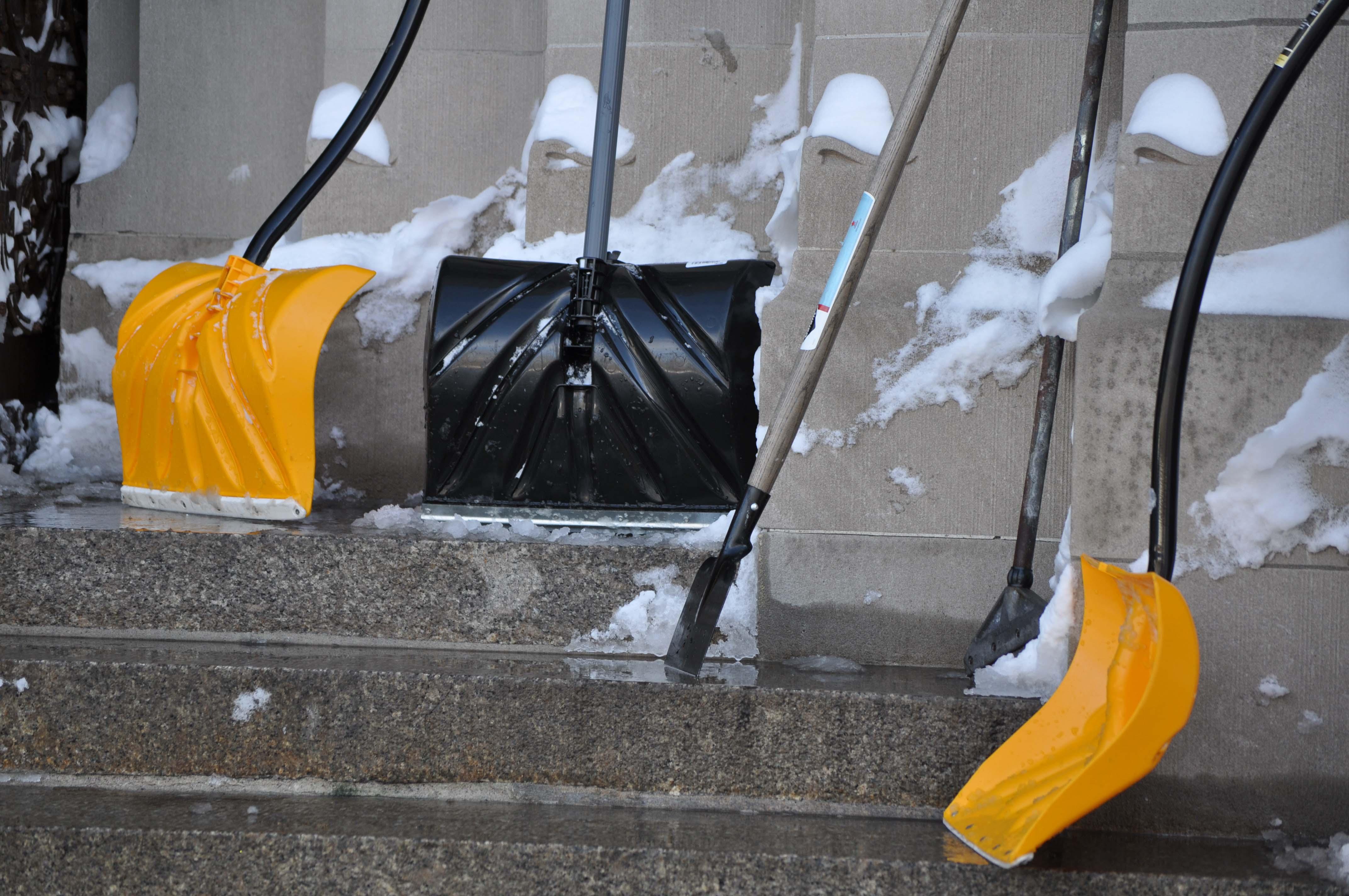 Yellow & black shovels
