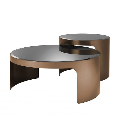 Coffee table PIEMONT copper set of 2