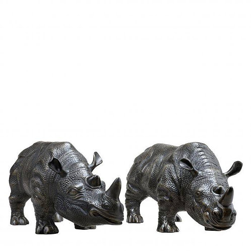 Rhinoceros Statue Set of 2