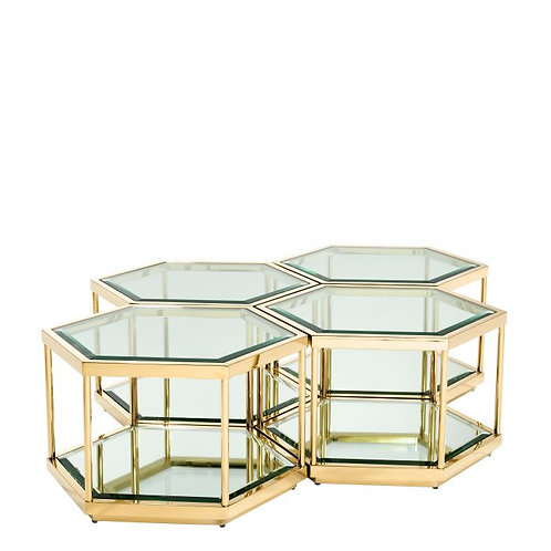 Coffee table SAX gold set of 4