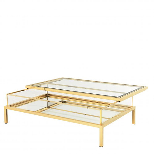 Coffee table HARVEY rectangular gold