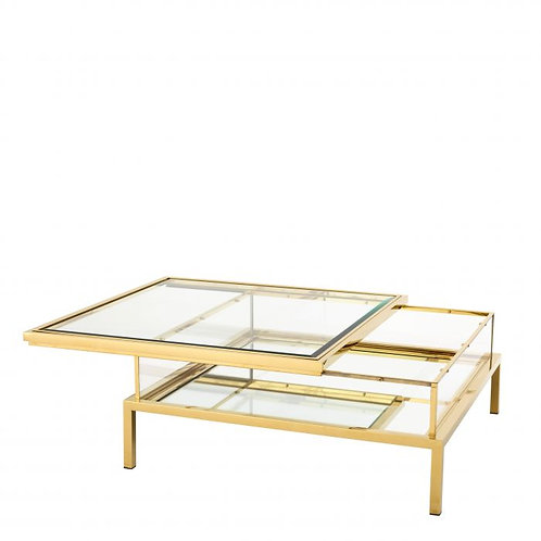 Coffee table HARVEY gold