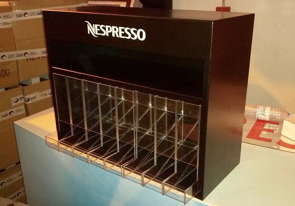 dispensador cápsulas de café em acrílico