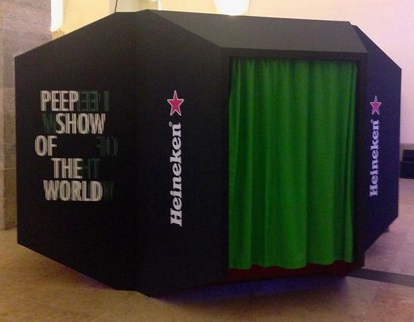 heineken, peep show of the world, stand