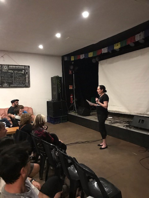 Giving a talk about the Wallarah 2 Coal Mine at the screening of documentary film '2040'. A wonderful film which shows what the world could look like in 2040 if every country transitions to 100% renewable energy