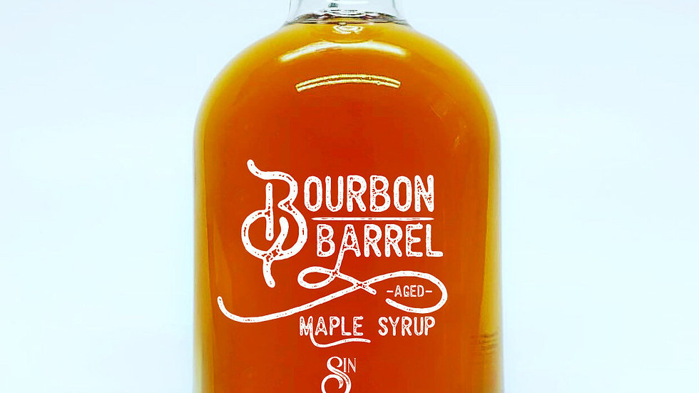 Bourbon Barrel Aged Maple Syrup (375 mL/12.4 oz)