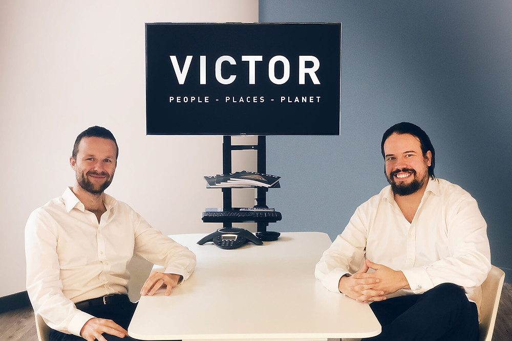 Victor CEOs Toby Edwards (left) and James Farley (right)