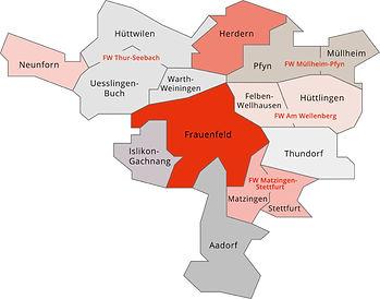 Stützpunkt Gebiet der Feurwehr Frauenfeld