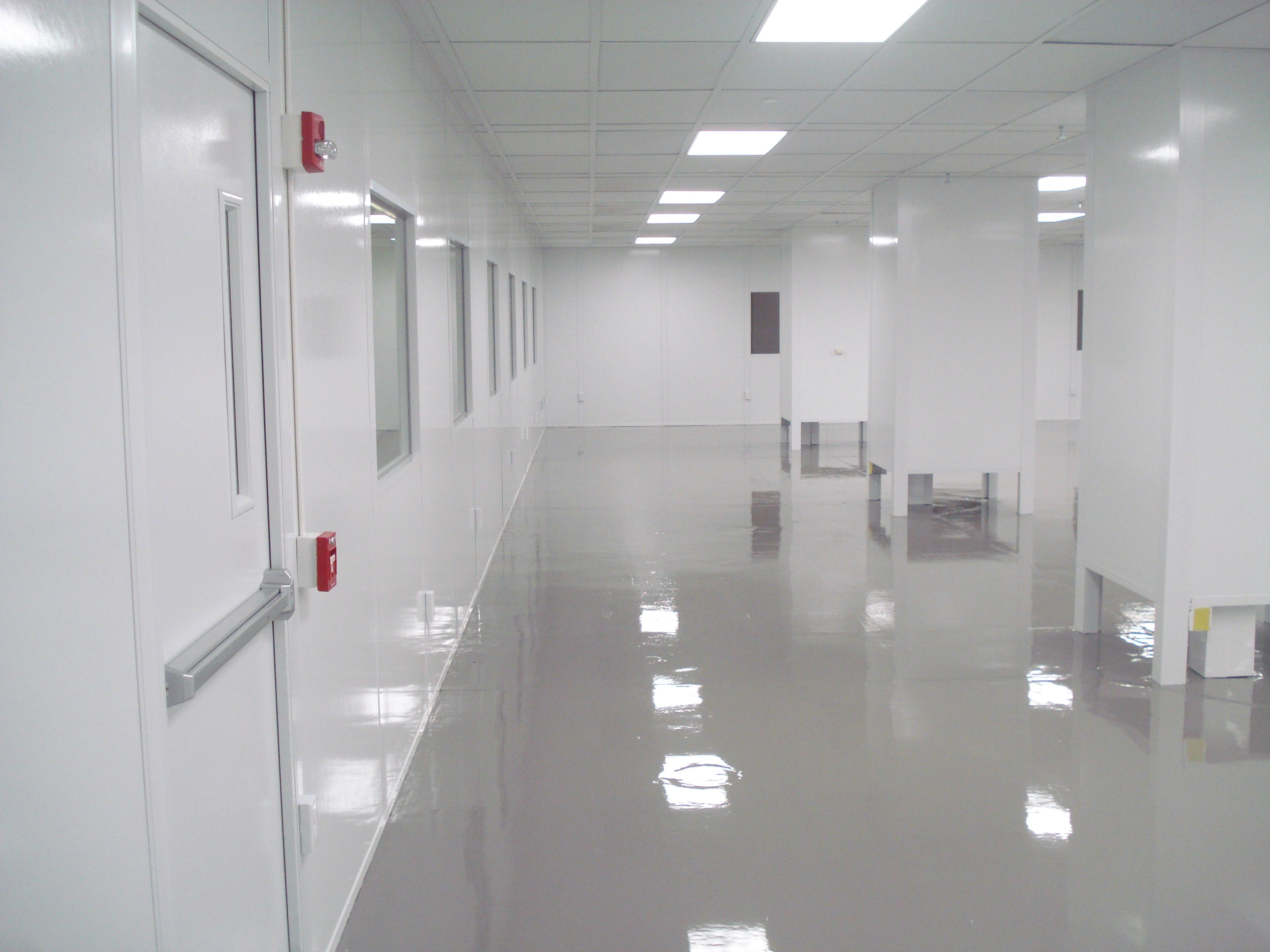 E Hall Wall Looking N