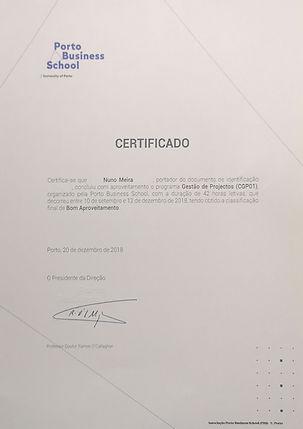 Certificate Porto Business School PM_blu