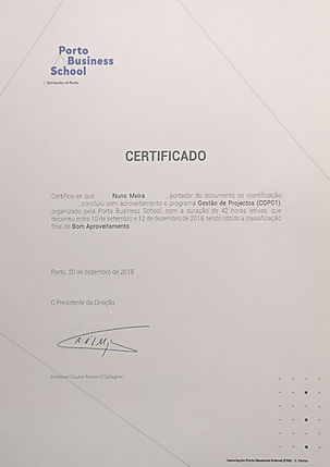 Certificate Porto Business School PM_blu