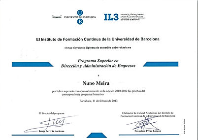 Certificate Business & Administration Executive Programe