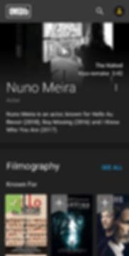 IMDb profile Nuno Meira