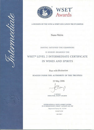Certificate_WSET Level 2 Intermediate in