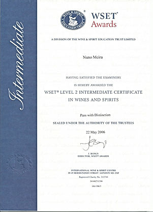 Certificate_WSET Level 2 Intermediate in