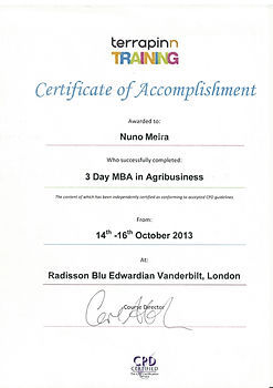 Certificate_Terrapinn 3 Day MBA in Agrib