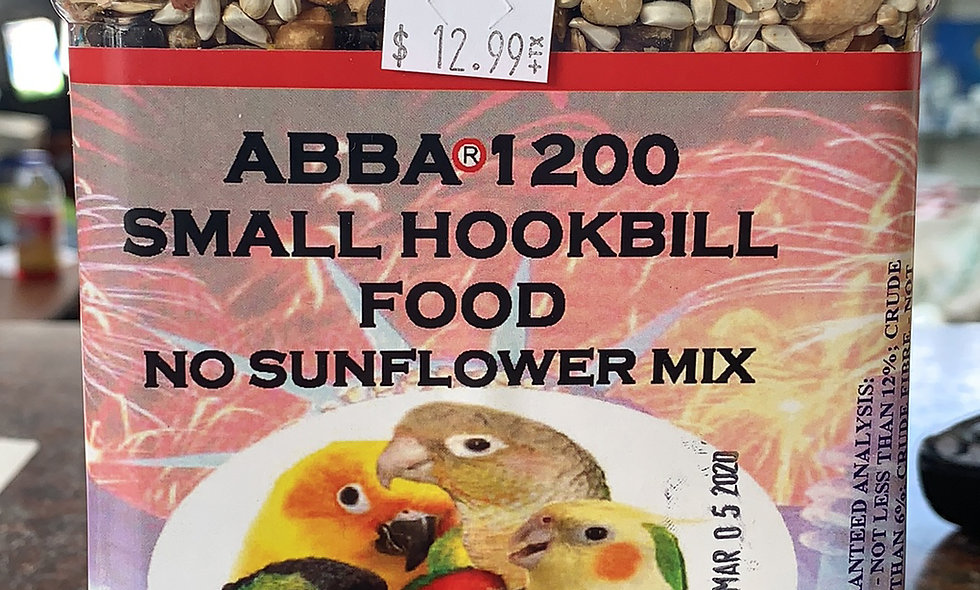 Abba 1200 Small Hookbill no sun flower