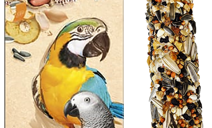 Smackers nut-coconut seed stick for large parrots.