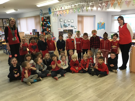 Red Nose Day 2021 in Reception!