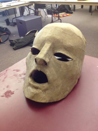 Old Woman mask progress