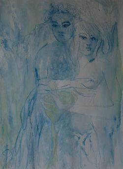 blaues Paar