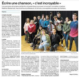 Ouest France, le 17 mars 2020