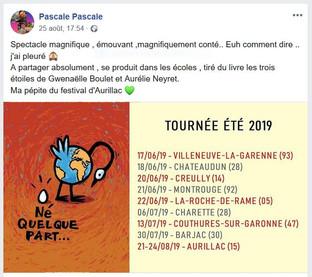Post Facebook, 25 août 2019