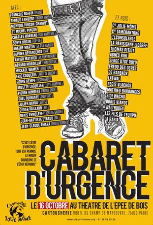 Cabaret d'Urgence ! le 16 octobre 2016