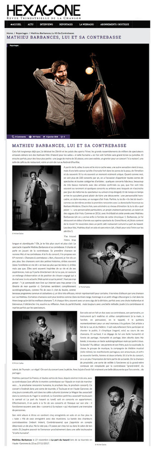 Article de Michel Gallas, sur Hexagone.me, le 9 janvier 2018