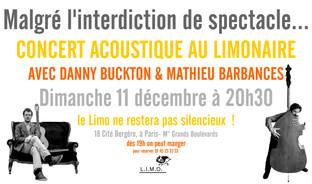 Concert au Limonaire, dimanche 11 décembre 2016