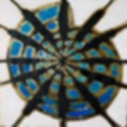 Ölbild auf Holz, Schlagmetall, Ioana Luca