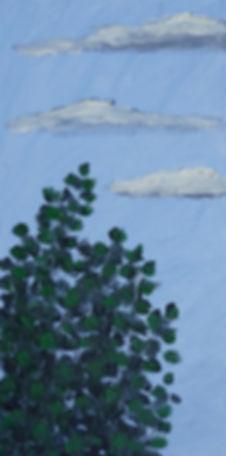 ioana luca, wolken, pappeln, ölbild auf holz